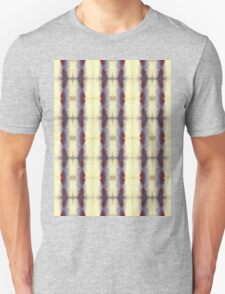 violet and cream stripes Unisex T-Shirt