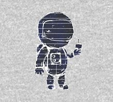 Space man with a milkshake Womens Fitted T-Shirt