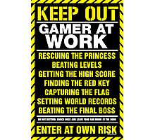 Gamer At Work Poster Photographic Print