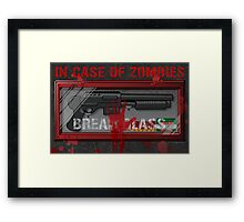 In Case Of Zombies Poster Framed Print