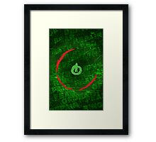 Red Ring Of Death Poster Framed Print