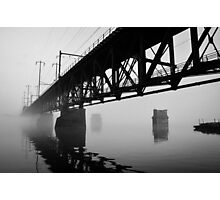 Foggy Sky ... Dark Waters Photographic Print
