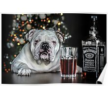 Todays bulldog is brought to you by Jack  Daniels wiskey  Poster