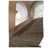 The Staircase Series:  New York Public Library. Poster