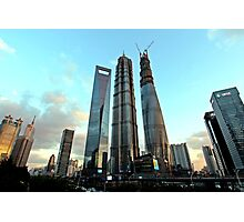 3 Skyscrapers, Pudong, Shanghai Photographic Print