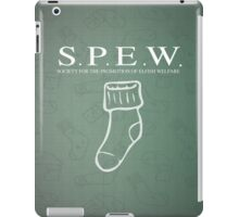 S.P.E.W Society for the Promotion of Elfish Welfare iPad Case/Skin