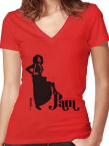 Pam Grier Women's Fitted V-Neck T-Shirt