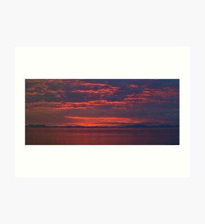 Red sky at night. Art Print