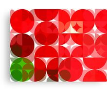 Mottled Red Poinsettia 1 Ephemeral Abstract Circles 3 Canvas Print