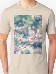 Cherish the Simple Things Pink Plum Blossoms Unisex T-Shirt