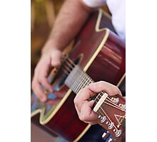 Street Guitar Photographic Print