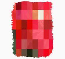 Mottled Red Poinsettia 1 Ephemeral Abstract Rectangles 3 Unisex T-Shirt