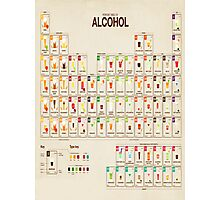 Periodic Table of Alcohol Photographic Print