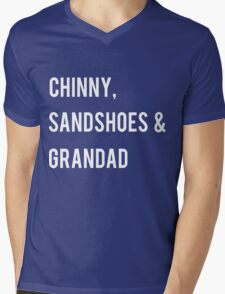 Chinny, Sandshoes & Grandad Mens V-Neck T-Shirt