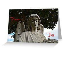 Peace - Joy holiday greeting card Greeting Card
