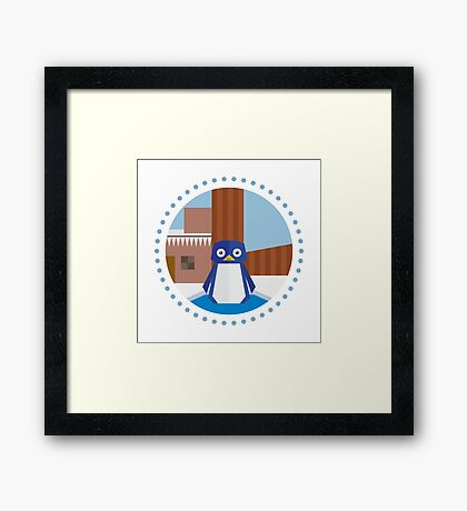 Mario 64 - Cool Cool Mountain Framed Print