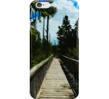Footbridge Over Canyon Abstract Impressionism iPhone Case/Skin