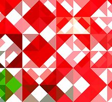 Mottled Red Poinsettia 1 Ephemeral Abstract Triangles 1 by Christopher Johnson