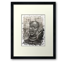 Pencil Zombie Framed Print