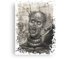 Pencil Zombie Canvas Print