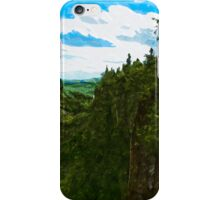 Ouimet Canyon Canada Abstract Impressionism iPhone Case/Skin