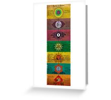 The System of Chakras Greeting Card