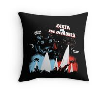 Earth vs. The Invaders Throw Pillow