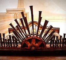 Organ pipes, Salzedas monastery, Portugal by juliedawnfox