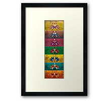 The System of Chakras - Contrastive Style Framed Print