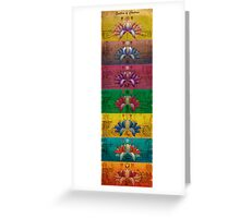 The System of Chakras - Contrastive Style Greeting Card