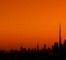 Dubai Skyline by fernblacker