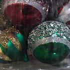 Frosted Xmas Balls by Kenneth Hoffman