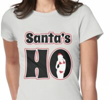 Santa's Ho Womens Fitted T-Shirt