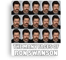The Many Faces of Ron Swanson Canvas Print