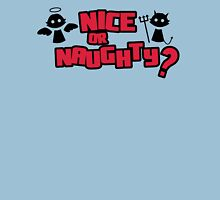 Nice or naughty? Womens Fitted T-Shirt