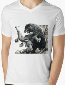 glass and grizzly the revenant movie Mens V-Neck T-Shirt