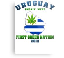 Uruguay Marijuana - First Green Nation 2013 Metal Print