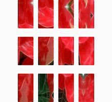 Mottled Red Poinsettia 1 Ephemeral Art Rectangles 2 Unisex T-Shirt