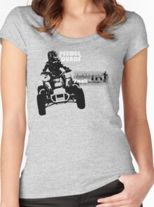 Jet Pack Racing - Peewee Quads Are Awesome Women's Fitted Scoop T-Shirt