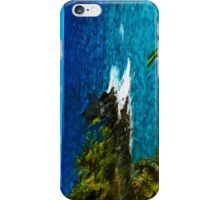 Black Beach on the Maui Road to Hana Abstract Impressionism iPhone Case/Skin