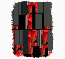 Mottled Red Poinsettia 1 Ephemeral Art Rectangles 7 Unisex T-Shirt
