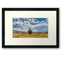 Historic Bodie Ghost Town - Abandoned Firestation Framed Print