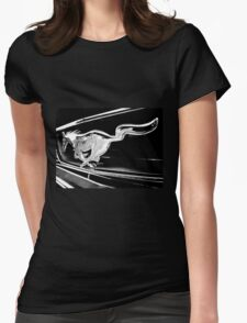 Black and White - '66 Mustang grill (2013) Womens Fitted T-Shirt