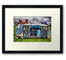 The 'BENCH Jeans' Vw Split Screen custom Van Framed Print