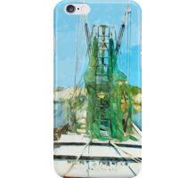 Shrimping Boat Abstract Impressionism iPhone Case/Skin
