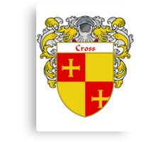 Cross Coat of Arms/Family Crest Canvas Print