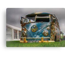 The 'BENCH Jeans' Vw Split Screen custom Van - Head on Canvas Print