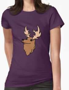 Deer Head Womens Fitted T-Shirt