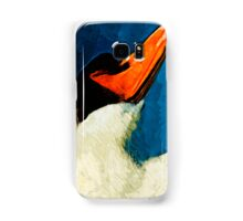 Mute Swan Abstract Impressionism Samsung Galaxy Case/Skin