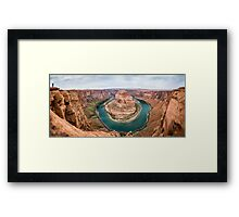 Horseshoe Bend Panorama shot Framed Print